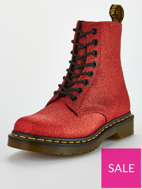 d63cf6e21 Dr Martens 1460 Pascal 8 Eye Ankle Boots - Red Glitter | very.co.uk