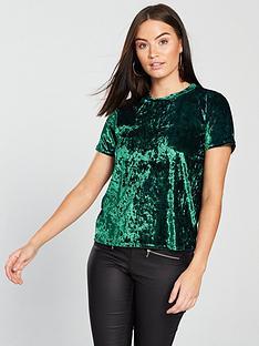 v-by-very-velvet-t-shirt-greennbsp