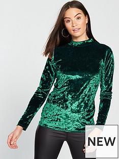 v-by-very-velvet-turtle-neck-green