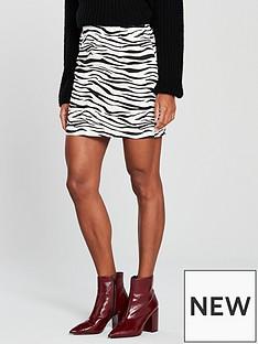 v-by-very-zebra-print-skirt-printed