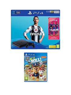 playstation-4-fifa-19-ps4-500gb-bundle-with-paw-patrol-on-a-roll