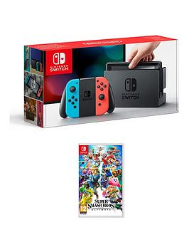 nintendo-switch-neon-console-with-super-smash-bros-ultimate
