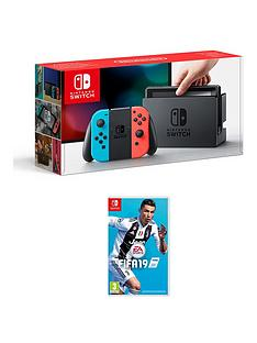 nintendo-switch-neon-console-with-fifa-19-with-optional-pro-controller