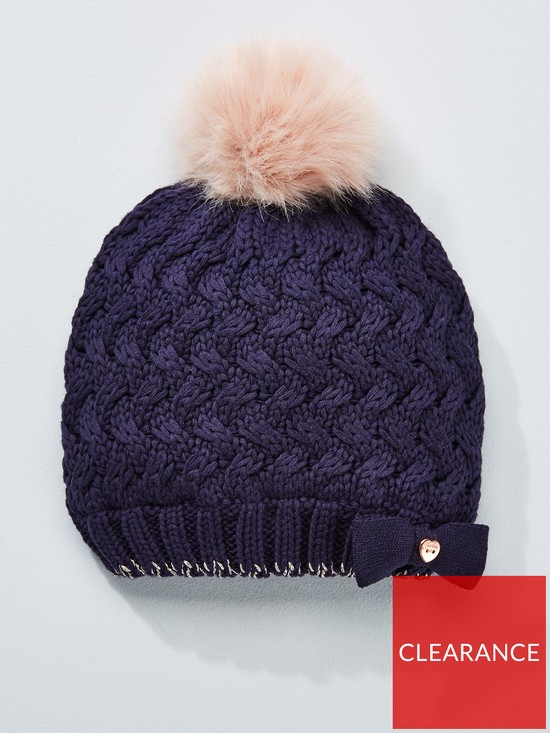 Baker by Ted Baker Girls Pom Pom Beanie Hat  84c73eff3e1e