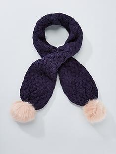 baker-by-ted-baker-girls-pom-pom-kitted-scarf