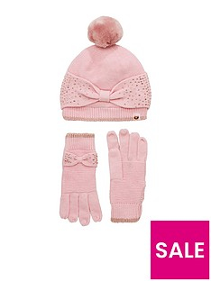 baker-by-ted-baker-girls-fillipa-bow-hat-and-gloves-set-pink