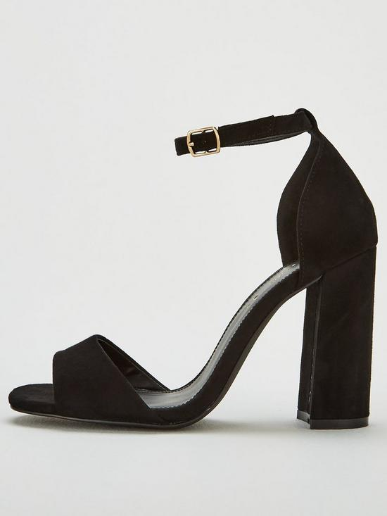 f1eafb98 V by Very Bessie Strap Block Heel Sandal Shoes | very.co.uk