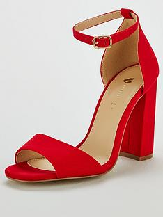 c666cf8f82f4 V by Very Bessie Strap Block Heel Sandal Shoes - Red