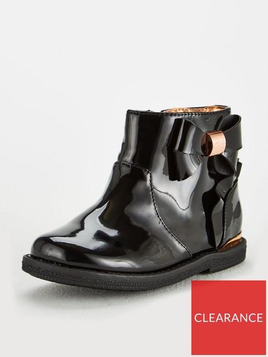 0632be81498134 Baker by Ted Baker Baker Toddler Girls Patent Frill Boot