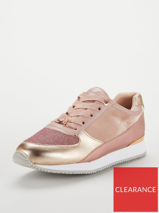 80889f157b568 Baker by Ted Baker Sparkle Lace Up Trainer