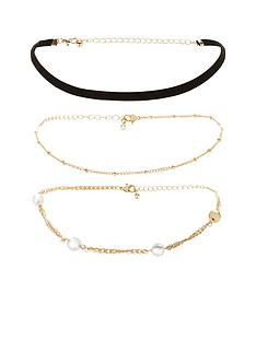 michelle-keegan-triple-choker-pack-gold-tone