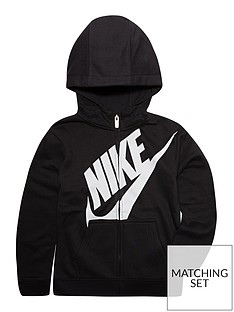 67cd4d39987 Nike Boys Futura Fleece Full Zip Hoodie