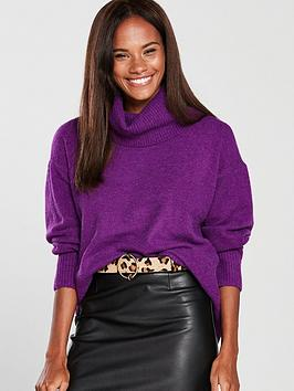 river-island-roll-neck-jumper-purple