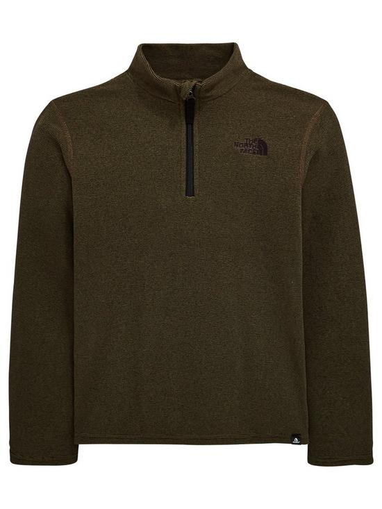 94fd79f98 THE NORTH FACE Boys Glacier 1/4 Zip - Khaki | very.co.uk
