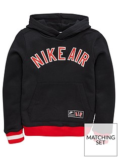 bbff280da121 Nike Boys Air Fleece Overhead Hoodie - Black