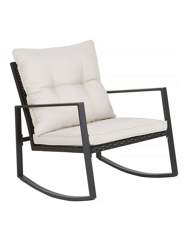 Enjoyable Santa Monica Rocker Set With Padded Seats Garden Furniture Creativecarmelina Interior Chair Design Creativecarmelinacom