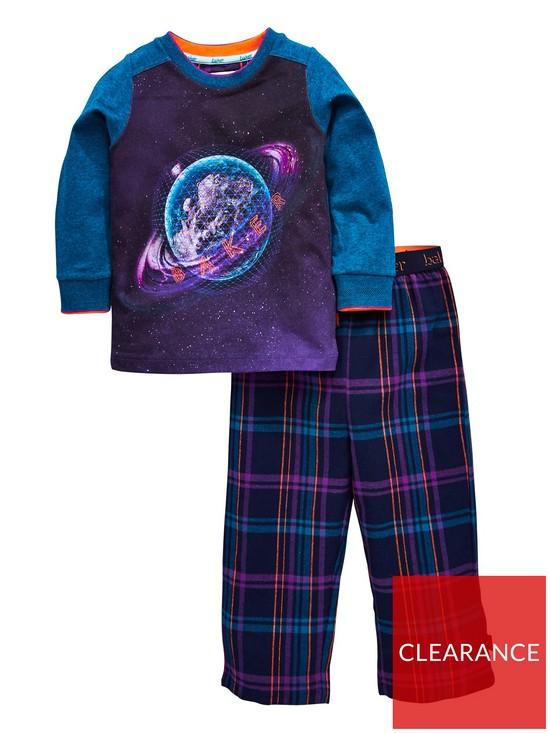 39ddae7d0 Baker by Ted Baker Boys Planet Long Pyjama Set