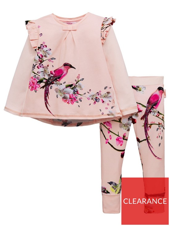 704e85eed Baker by Ted Baker Girls Orient Floral Pyjama Set