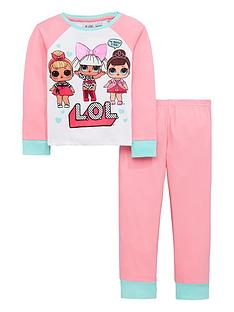 lol-surprise-girls-glow-in-the-dark-pyjama-set-multi-coloured