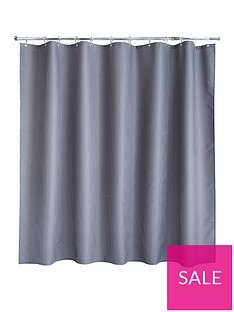 aqualona-grey-waffle-shower-curtain