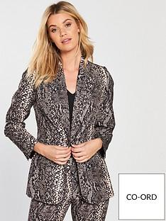 v-by-very-snake-print-suit-jacket