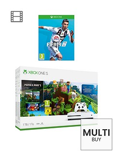 xbox-one-s-minecraftnbsp1tb-console-bundle-with-fifa-19nbspandnbspoptional-extras