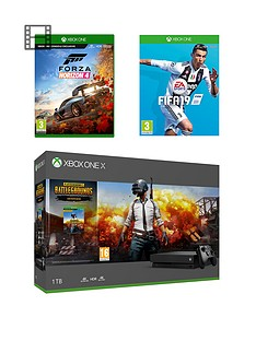 xbox-one-x-playerunknownrsquos-battlegrounds-1tbnbspconsole-bundle-withnbspfifa-19-and-forza-horizon-4-plus-optional-extras