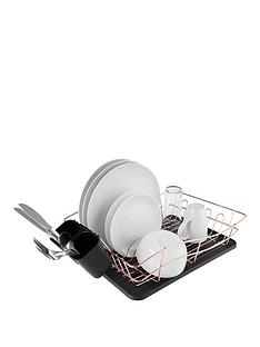 Tower Dish Rack with Rose Gold Tray 146693f464