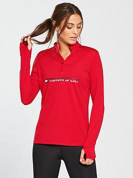 tommy-hilfiger-training-top-14-zip-logo-rednbsp