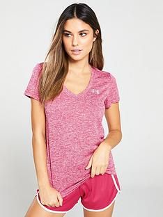 a89aae0217 UNDER ARMOUR Tech Short Sleeve V Neck Twist - Pink
