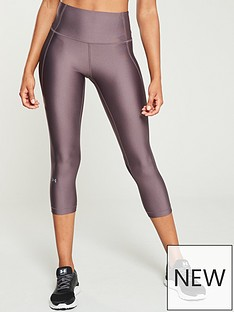 reputable site 4caef 596f0 UNDER ARMOUR HeatGear® Armour Capri Branded Legging - Grey