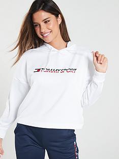 tommy-hilfiger-hoodienbspcropped-vertical-logo-whitenbsp