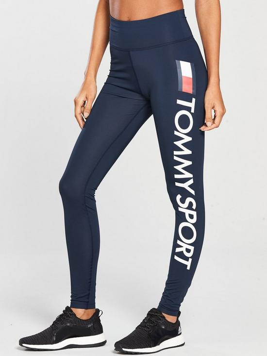 7c29cdc8 Tommy Hilfiger Legging High Waist Logo - Navy | very.co.uk