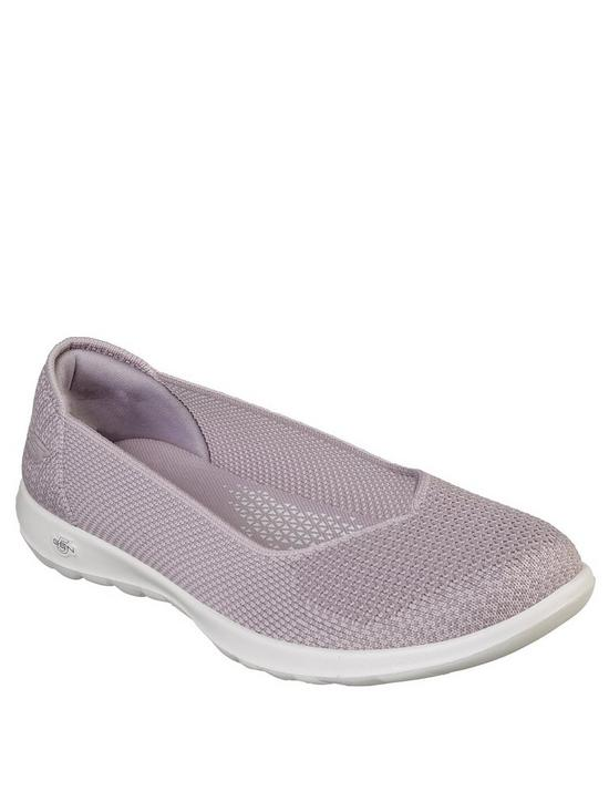 2528438d1f60 Skechers Go Walk Lite Moonlight Ballerina Shoes - Grey