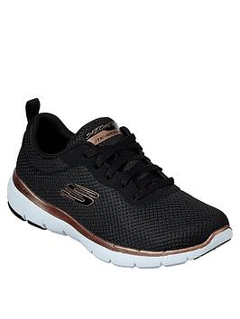 skechers-flex-appeal-30-first-insight-mesh-trainers-black