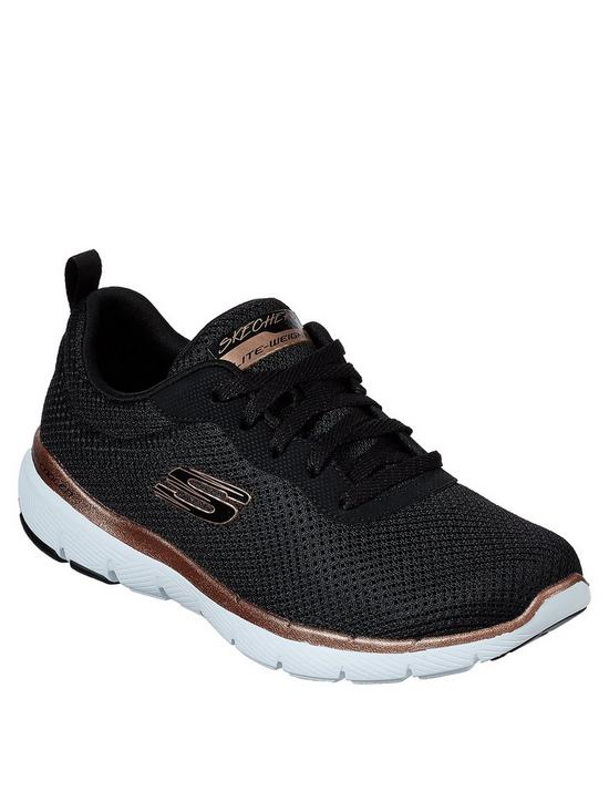 4724a4320fb6 Skechers Flex Appeal 3.0 First Insight Mesh Trainers - Black