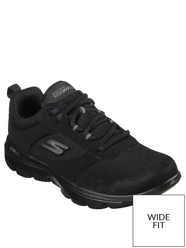 quality first modern techniques wholesale Wide Fit Go Walk Evolution Ultra Enhance Mesh Lace Up Trainers - Black