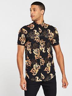 sik-silk-high-collar-resort-shirt-black