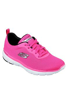 8c7f49f6a573 Skechers Flex Appeal 3.0 First Insight Mesh Trainers - Pink