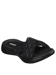 ce7e344f0f5a Skechers On-The-Go 600 Sunrise Flat Sliders - Black
