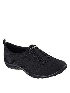 finest selection 67aa6 b99d9 Skechers Breathe-easy Fortuneknit Plimsoll Pumps - Grey