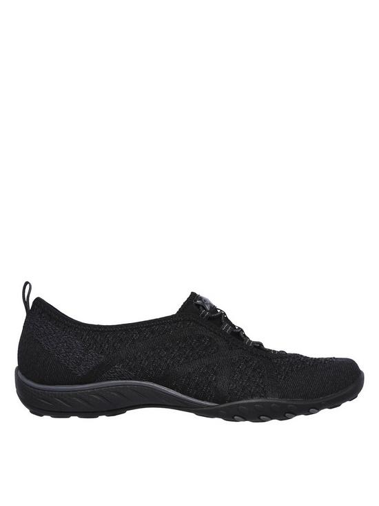 b94bddce304 ... Skechers Breathe-easy Fortuneknit Plimsoll Pumps - Grey. 2 people have  looked at this in the last couple of hrs.