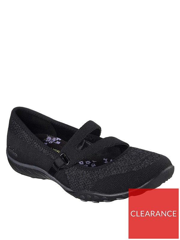 Flat Easy Shoes Lucky Breathe Black Lady doQCWBrxe
