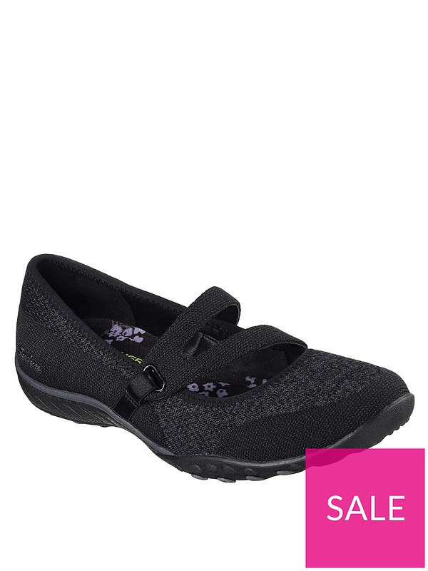 f8cce1ff Skechers Breathe-Easy Lucky Lady Flat Shoes - Black | very.co.uk