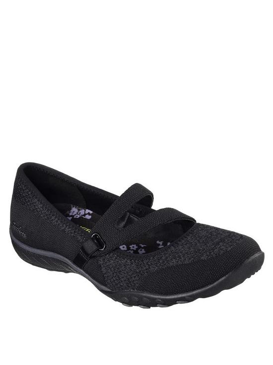 sale retailer 268e8 87a5f Skechers Breathe-Easy Lucky Lady Flat Shoes - Black