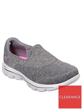 skechers-go-walk-evolution-ultra-amazed-plimsoll-shoes-grey