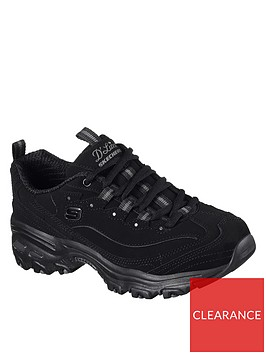 skechers-dlites-play-on-bungee-leather-trainersnbsp-black