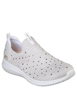 skechers-ultra-flex-thrive-up-trainers-whiterose-gold