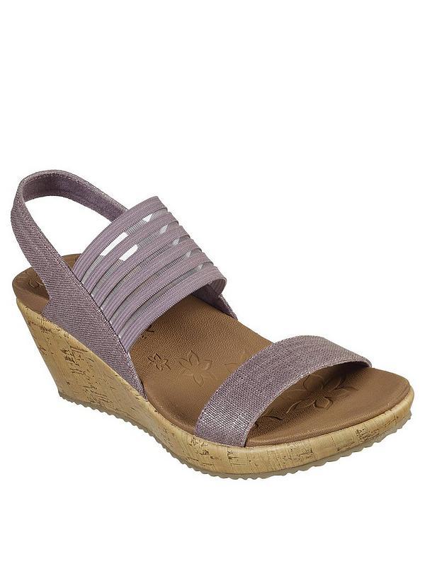 2dabf677c9384 Skechers Beverlee Smitten Kitten Wedge Sandal