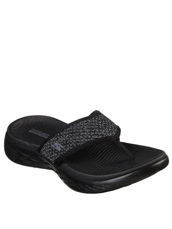 f5bc2eedabce Skechers On-The-Go 600 Glossy Flip Flop Shoes - Black